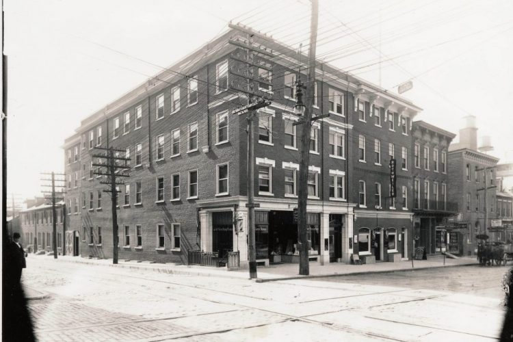 The southwest corner of Water and West King Streets, c. 1915.