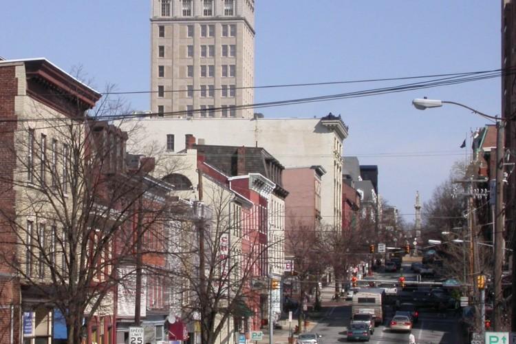 West King Street 2012, looking east toward Penn Square.