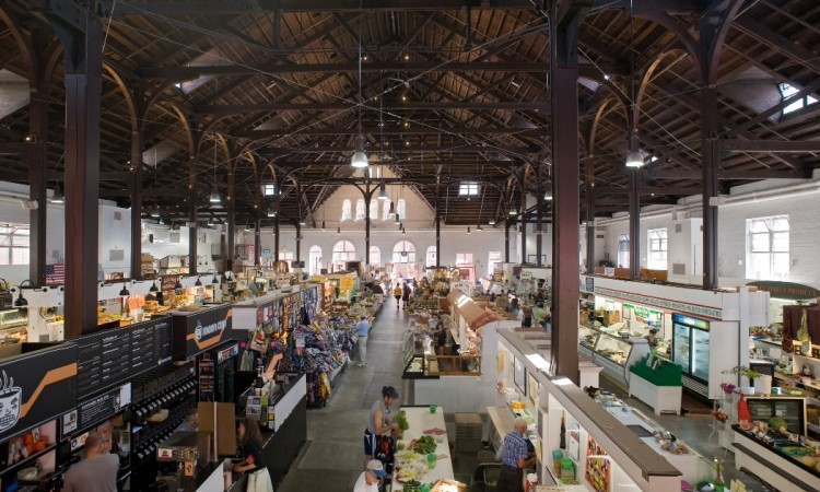 Central Market interior, 2012; all renovation work complete.