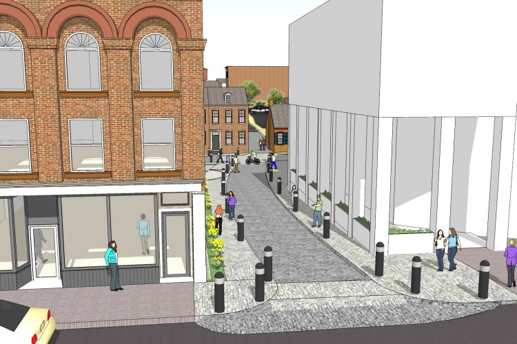 Re-designing the look and feel of the intersection at Grant Street and Prince Street.