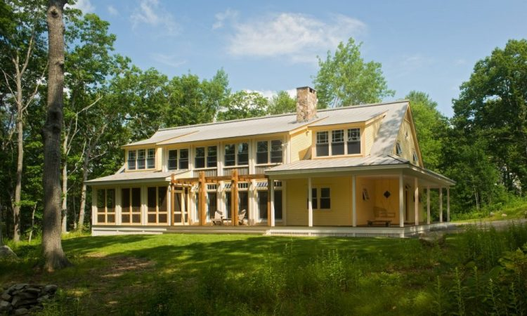 A 4,000+ SF house, designed for a family with 3 young girls and lots  of visiting cousins. Four large bedrooms including a large bunk room  for the girls, three bathrooms and powder room. Wrap-around porches,  and a screened porch.