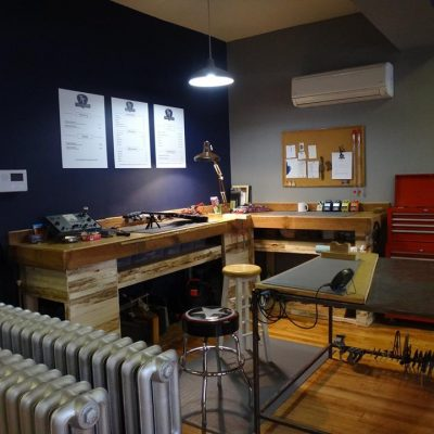 Tone Tailors workshop located in 213 W. King St.