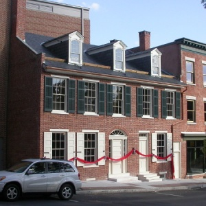 The reconstructed Thaddeus Stevens House and Law Office and the adjoining Kleiss Tavern owned by Stevens