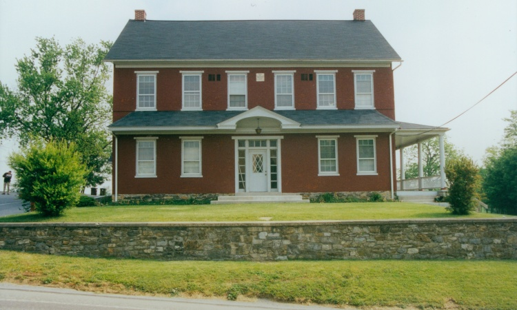 The Groff Store-House, existing front facade, before renovations.