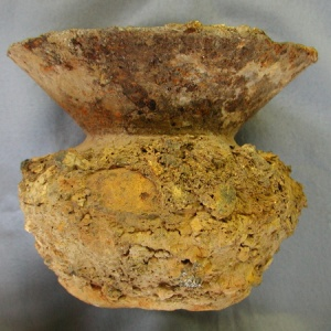 A spittoon found in one of the cisterns substantiated the likelihood of human occupancy