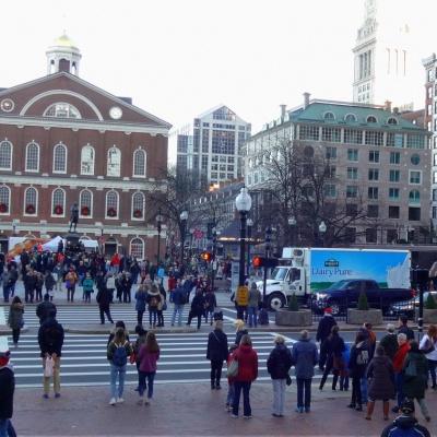 Haymarket Square in Boston