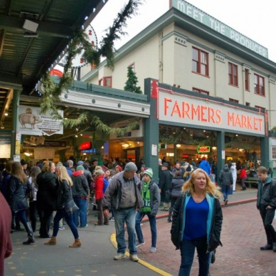 Seattle's Market was nearly demolished in the 1960s, but public activism convinced the City to retain it for the future; now one of Seattle's most important places, it anchors a nine-acre historic district and remains the emotional heart of downtown.
